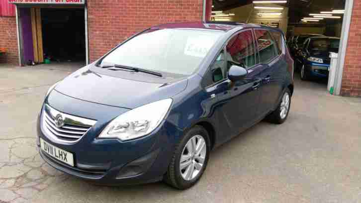 VAUXHALL MERIVA 1.4 EXCLUSIV LOW MILEAGE AIR CON ALLOYS NEW SHAPE AA REPORT 2011