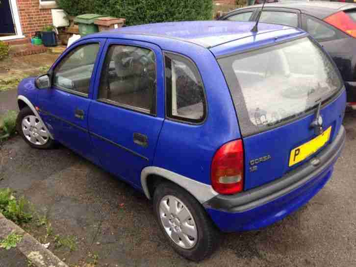 opel vauxhall corsa 1996 blue with mot car for sale. Black Bedroom Furniture Sets. Home Design Ideas