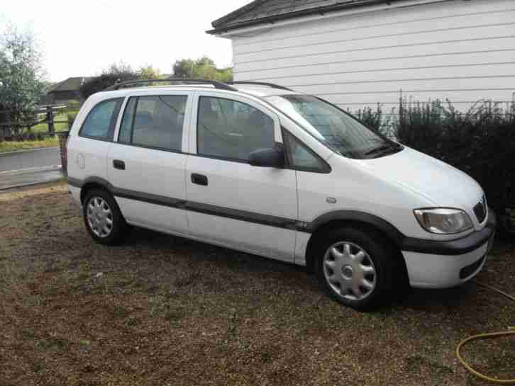 vauxhall zafira club dti white 2002 car for sale. Black Bedroom Furniture Sets. Home Design Ideas