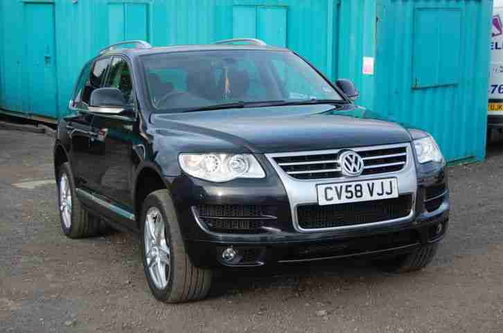 volkswagen touareg altitude v6 tdi a black 2008 car for sale. Black Bedroom Furniture Sets. Home Design Ideas
