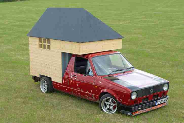 VW Caddy Mk 1 pick up with shed (euro, rat,