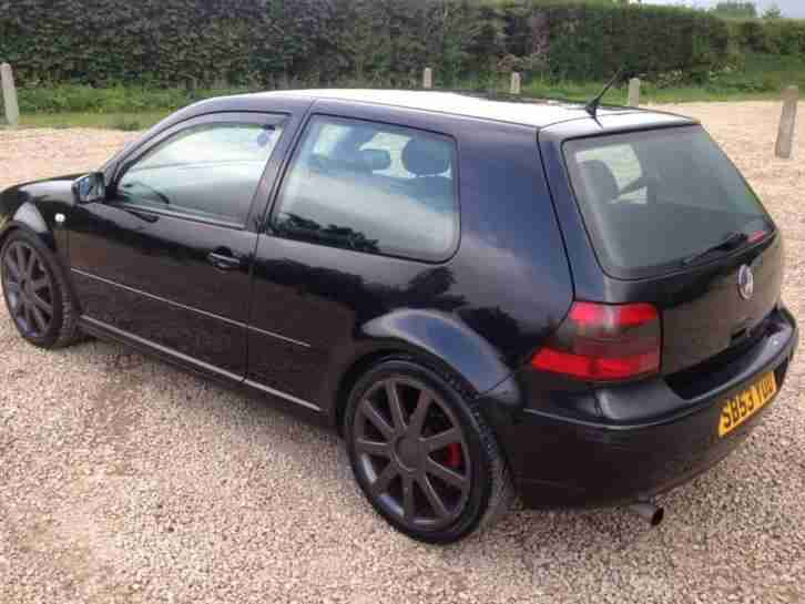 VW GOLF 1.9 GTTDI 130BHP 3 DOOR DIESEL HATCHBACK IN BLACK 53 PLATE 11 MONTHS MOT