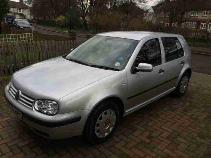 VW Golf 2004 Silver 1.4 S 5dr hatchback manual petrol, great condition low miles