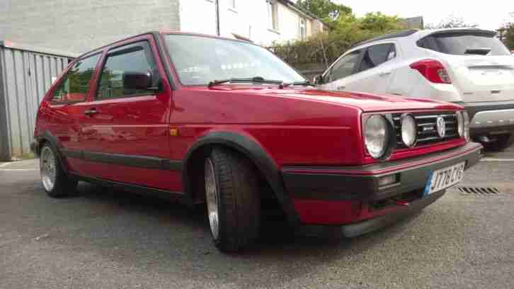 VW Golf MK2 1.8 Driver 3dr in Red Project
