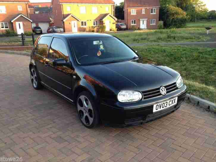 vw golf mk4 1 9 gt tdi arl 150 bhp 2003 black pearl 3dr car for sale. Black Bedroom Furniture Sets. Home Design Ideas