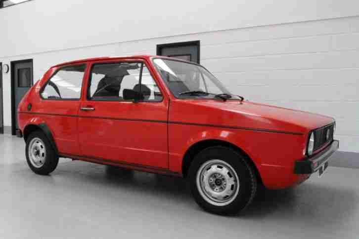 VW Golf mk 1 D 1977 Series 1 early LHD (not