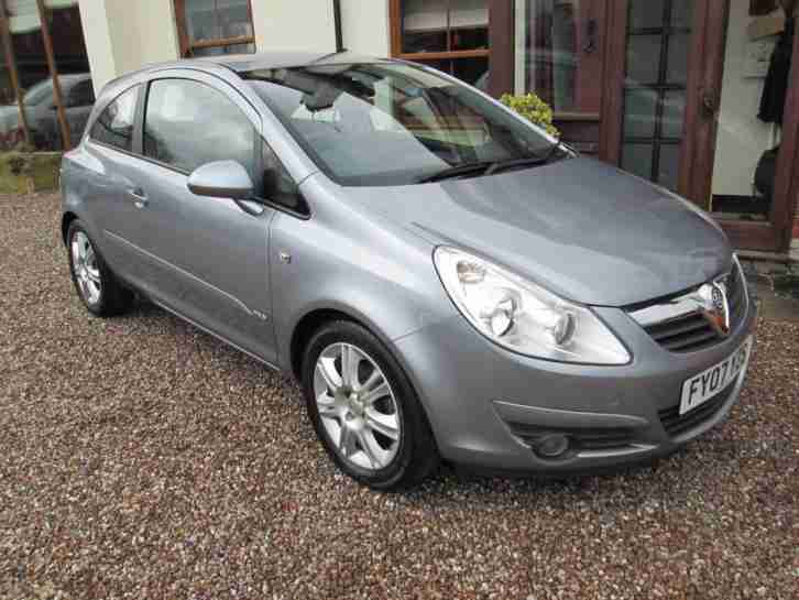 Vauxhall Corsa 1.4i 16v Design 2007. 3 door.