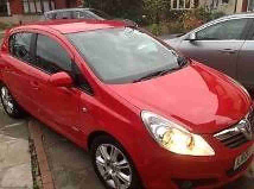Vauxhall Corsa 1.4i 16v ( a/c ) 2007 Design RED ALLOYS, HALF LEATHER,