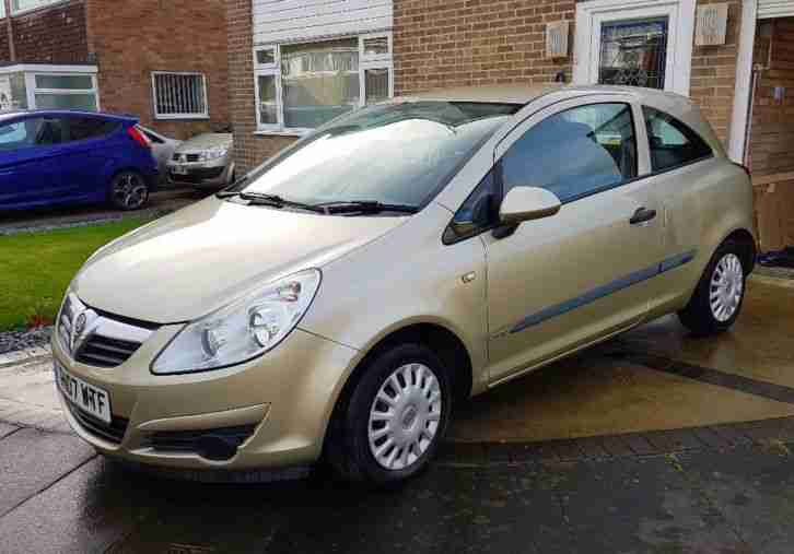 Vauxhall Corsa 2007. Opel car from United Kingdom