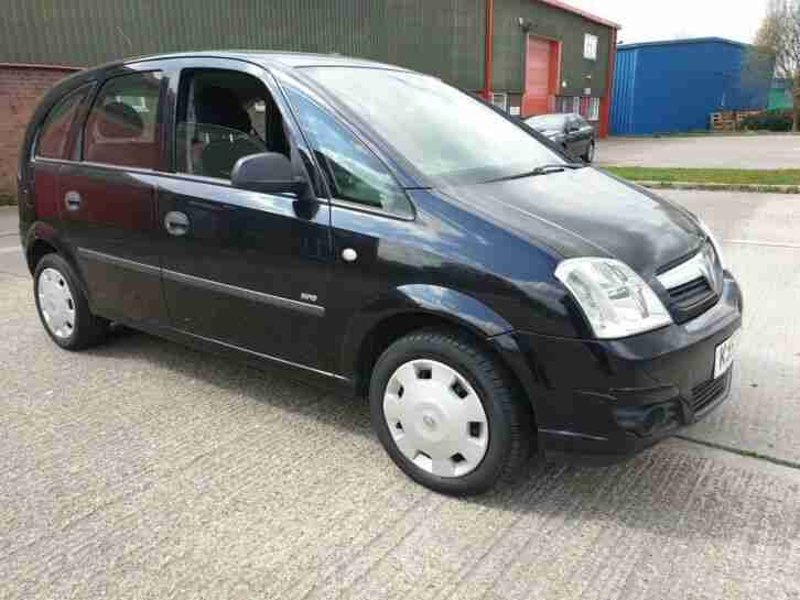 Vauxhall Meriva 1.4 2007 5dr black 12 months MOT FSH HPI clear MPV Lovely car