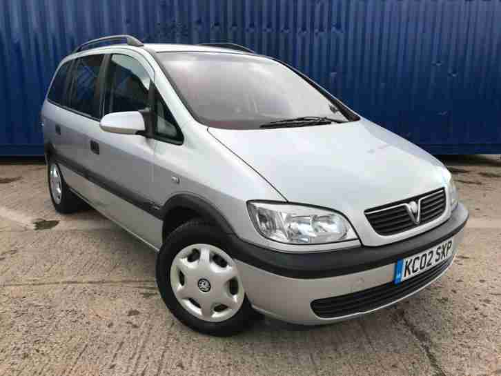 Vauxhall Opel Zafira 1.8i 16v 2002MY Comfort, With AIR CON £750 7 SEATS