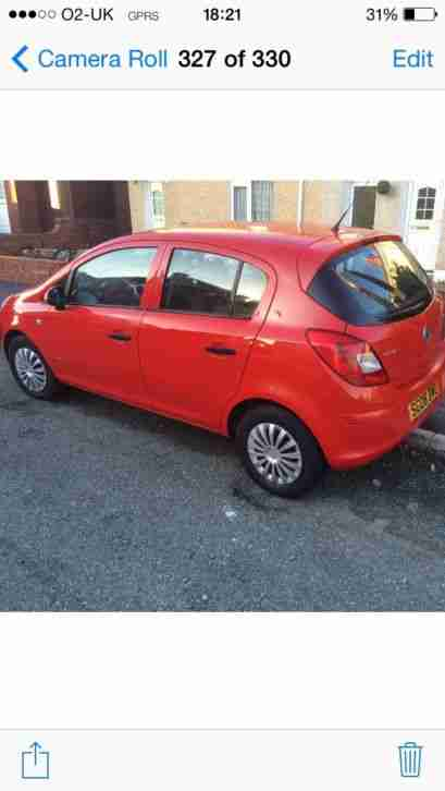 Vauxhall corsa 2008 plate low miles