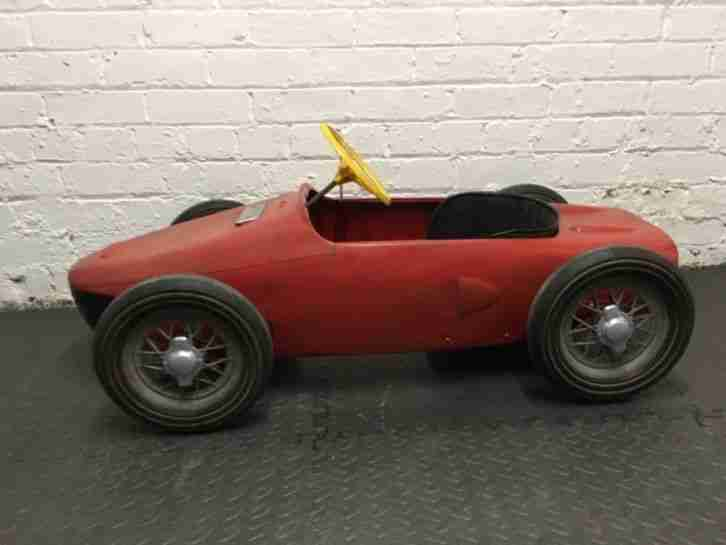 Vintage 1960's Sharknose Ferrari pedal car Barn Find