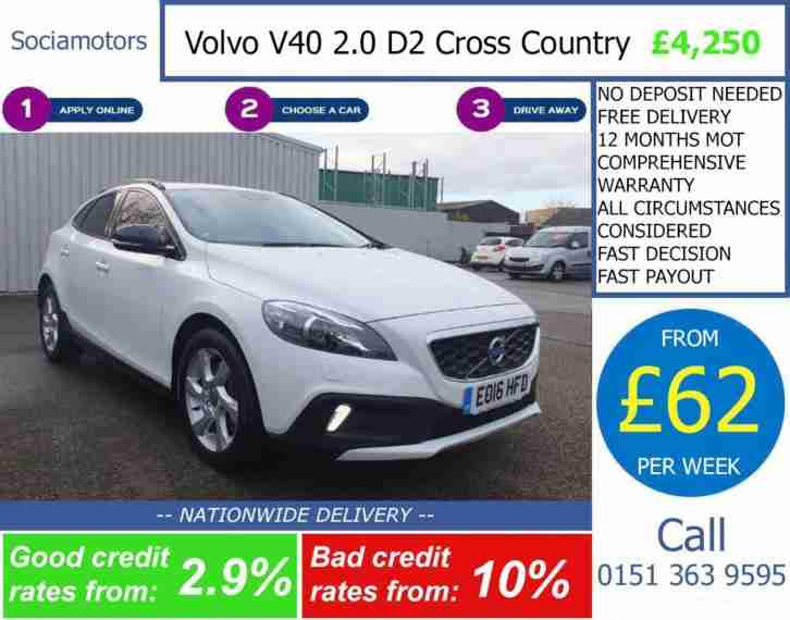 Volvo V40 2.0TD D2 Nav Geartronic GOOD BAD CREDIT CAR FINANCE £62 P W