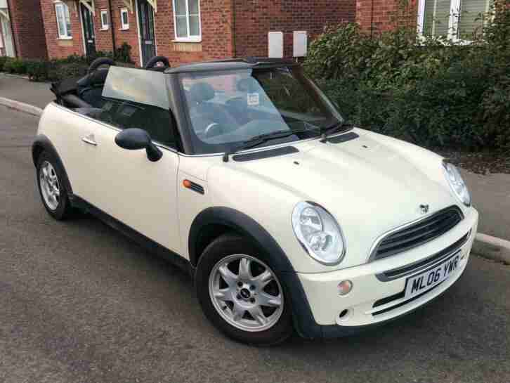 WHITE 2006 MINI ONE CONVERTIBLE 1.6 PETROL FULL SERVICE HISTORY REAR SENSORS
