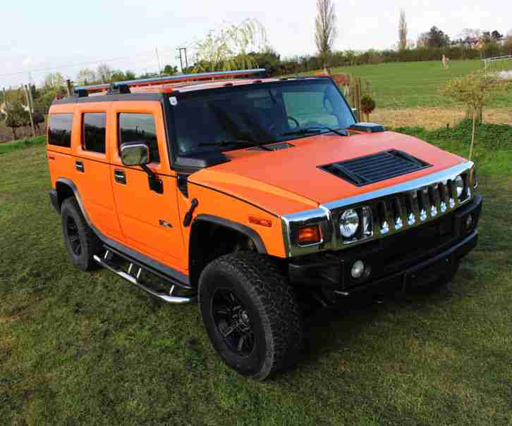 WestCoastCustoms Matte Orange Hummer H2 2005 custom show car 6 seats 19,500miles