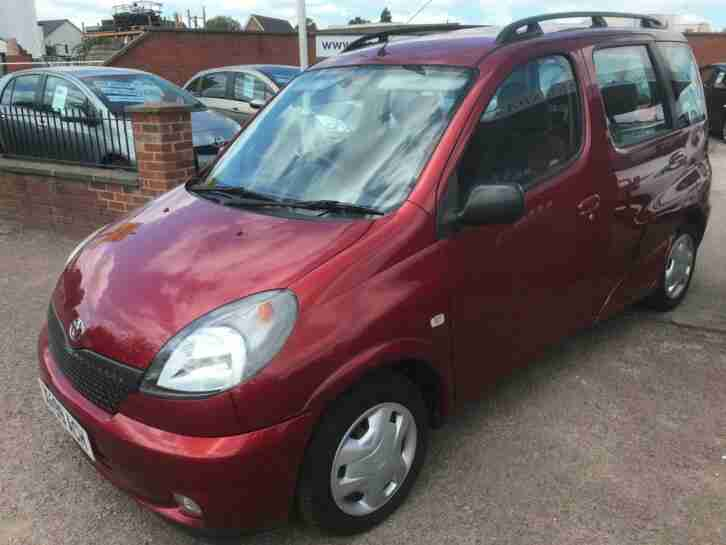 X 2000 Toyota Yaris 1.3 Automatic Verso.Lava Red,64000rm,Full mot,Drives lovely