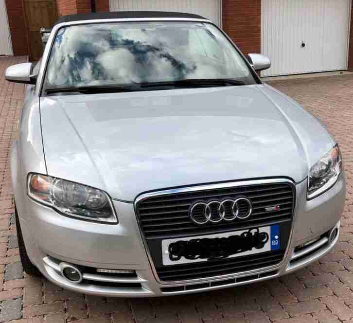 Audi A4 convertible. Audi car from United Kingdom