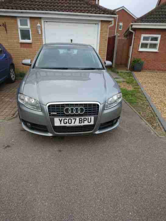 Audi A4 s. Audi car from United Kingdom