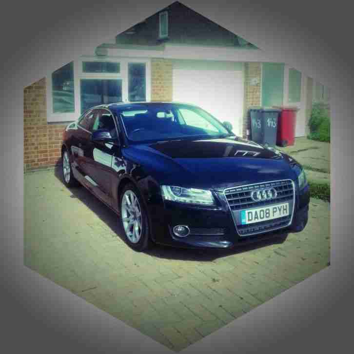 Audi A5 2008. Audi car from United Kingdom
