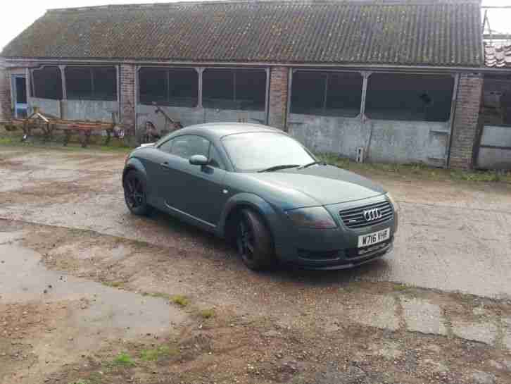 audi tt 225 rare audi pearl green colour with custom satin black audi 18 alloys