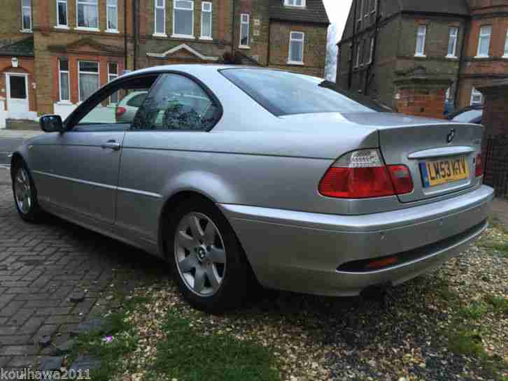 bmw 3 series e46 coupe 318ci auto 2004 silver 2 owners facelift model automatic