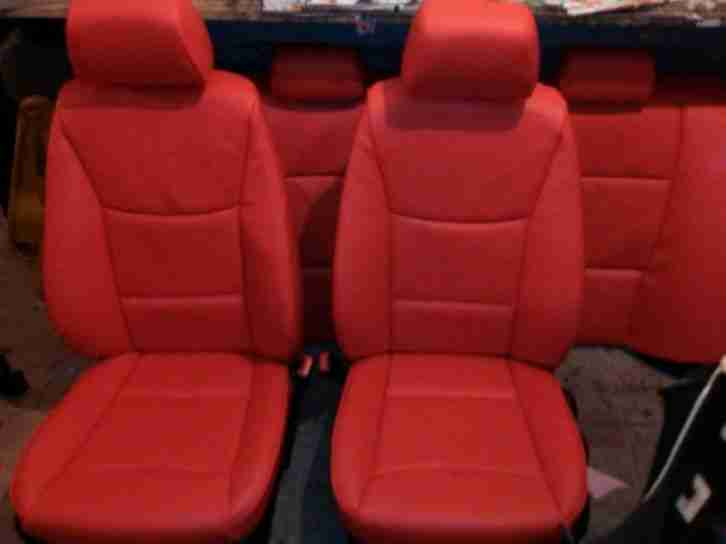 Bmw E90 Red Leather Interior Car For Sale