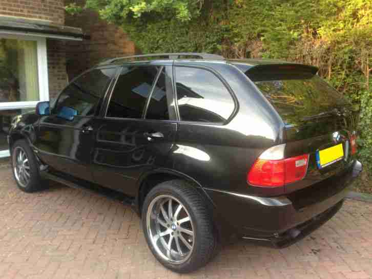 BMW X5 black. BMW car from United Kingdom