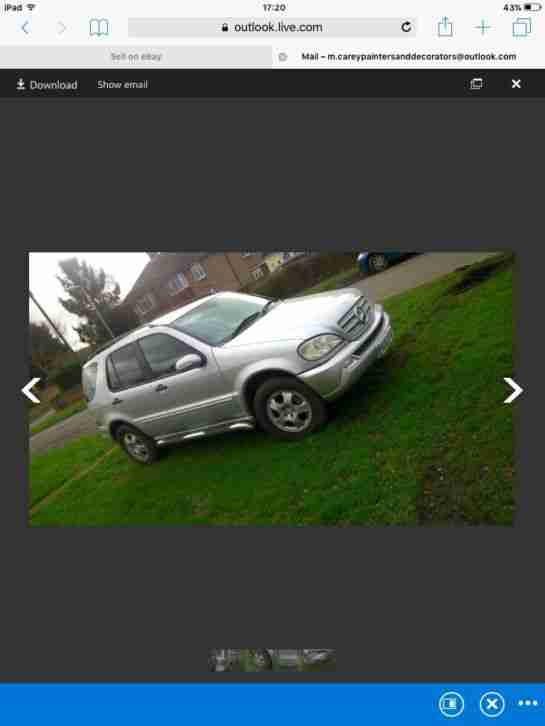 mercedes ml 270 spares or repair