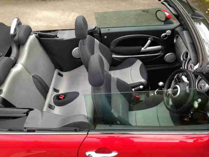 mini cooper s convertible red