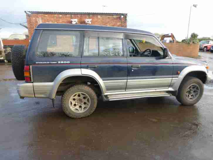 mitsubishi shogun 4x4 2.8 diesel spares or repair
