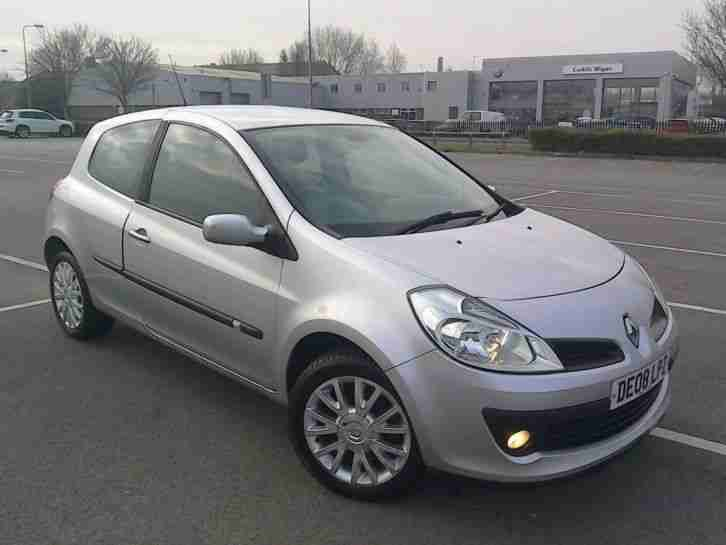 renault clio 1 1 tce dynamique turbo 100bhp 3 door 08 plate 65k looks. Black Bedroom Furniture Sets. Home Design Ideas