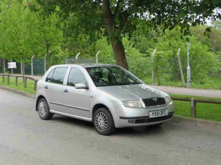 skoda fabia 1 9 sdi diesel silver 5 doors car for sale. Black Bedroom Furniture Sets. Home Design Ideas