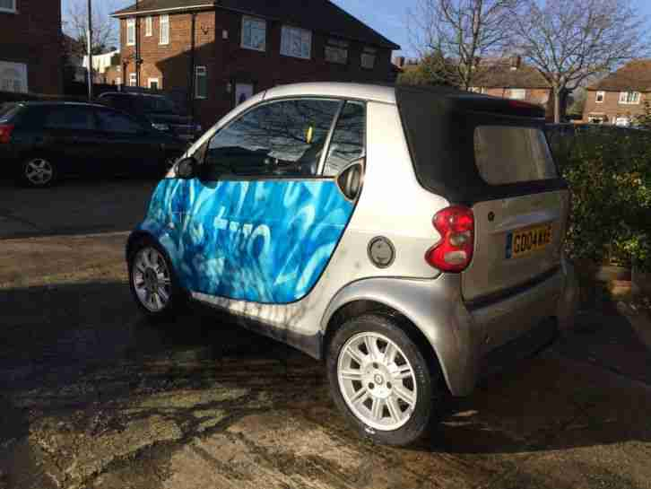 smart car convertible cabriolet 2004 600cc