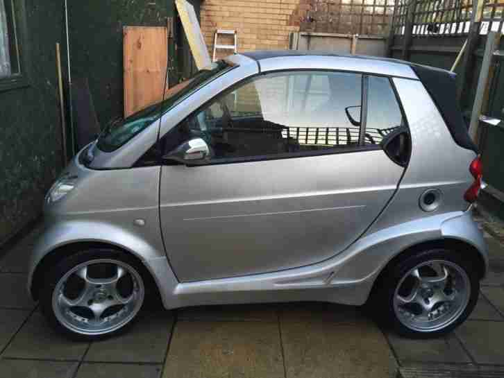 smart car fortwo 52 brabus kit convertible cabrio imaculate car for sale. Black Bedroom Furniture Sets. Home Design Ideas