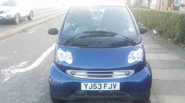 smart fortwo 698cc engine blue two door