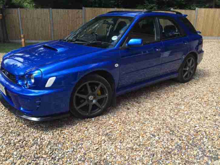 subaru impreza wrx wagon estate 345 bhp blue modified sti car for sale. Black Bedroom Furniture Sets. Home Design Ideas