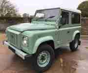 Superbly executed 2003 Land Rover Defender 90 TD5 Heritage replica+W8 HUE plate