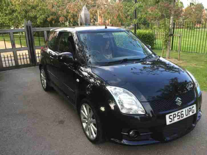 suzuki swift sport vvt 1.6.jet black 71,000 miles fsh fantastic car2007