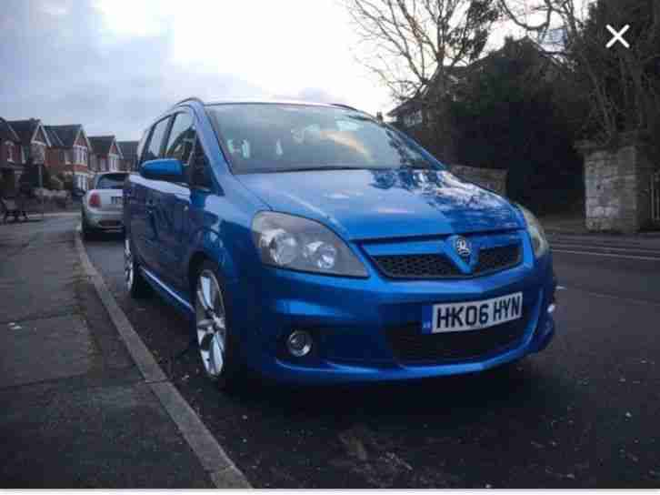 Vauxhall zafira VXR. Opel car from United Kingdom