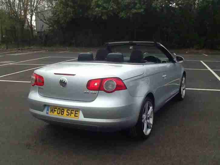 volkswagen eos 2.0 tdi 140 bhp 6 speed 08 plate 12 months mot hpi clear may px